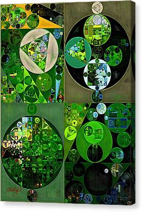 Abstract Painting - Sap Green Canvas Print