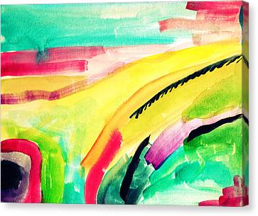 Abstract Watercolor Painitng Canvas Print by My Art