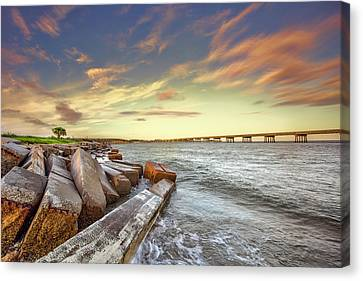 Canvas Print featuring the photograph Amelia Island by Peter Lakomy