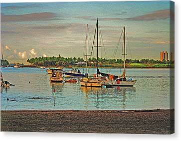 Canvas Print featuring the digital art 3- Anchored Out by Joseph Keane