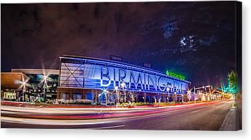 April 2015 - Birmingham Alabama Regions Field Minor League Baseb Canvas Print by Alex Grichenko