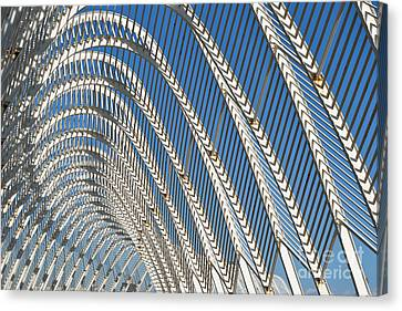 Archway Canvas Print - Archway In Olympic Stadium In Athens by George Atsametakis
