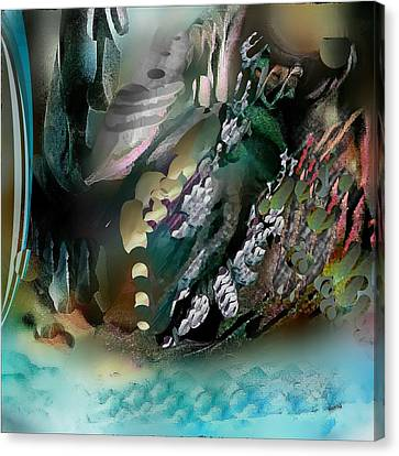 Canvas Print featuring the pastel Art Abstract by Sheila Mcdonald