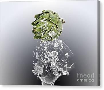 Artichoke Canvas Print - Artichoke Splash by Marvin Blaine