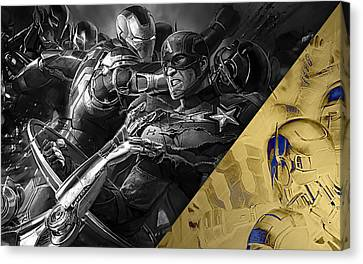 Captain America Canvas Print - Avengers Collection by Marvin Blaine