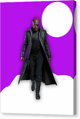 Avengers Nick Fury Collection Canvas Print