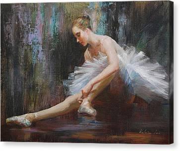 Ballerina Canvas Print by Kelvin  Lei
