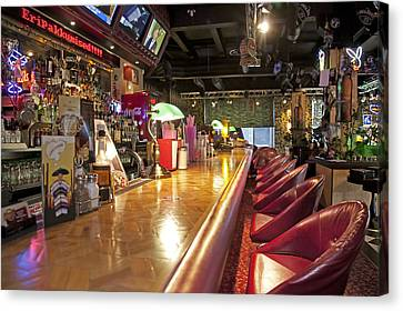 Bar At An American Style Diner Canvas Print by Jaak Nilson