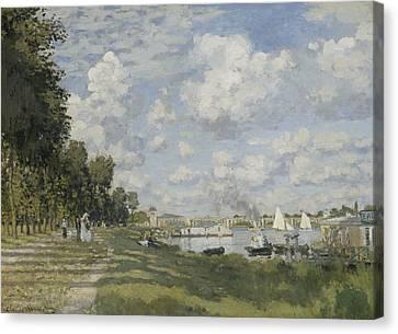 Bassin D'argenteuil Canvas Print by Claude Monet