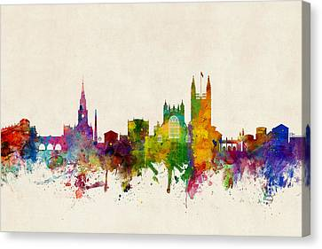 Bath England Skyline Cityscape Canvas Print by Michael Tompsett