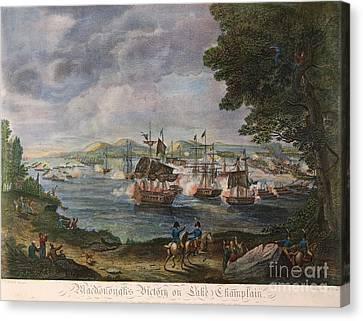 Battle Of Lake Champlain Canvas Print