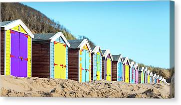 Beach Huts Canvas Print by Svetlana Sewell
