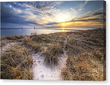 Beach In Frankfort Canvas Print
