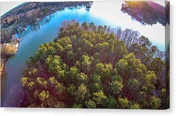 Lake Wylie Canvas Print - Beautiful Sunset Over Lake Wylie South Carolina by Alex Grichenko