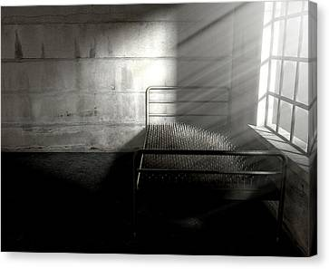 Bed Of Nails In A Room Canvas Print by Allan Swart