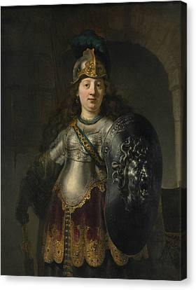 Bellona Canvas Print by Rembrandt