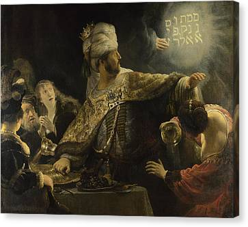 Belshazzars Feast Canvas Print by Rembrandt