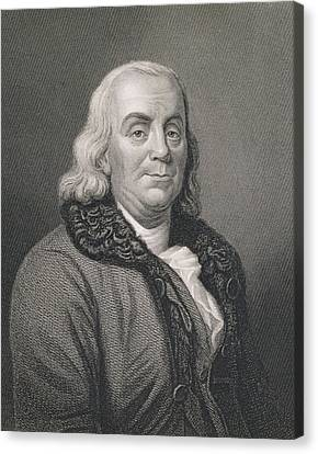 Benjamin Franklin Canvas Print - Benjamin Franklin by Joseph Siffred Duplessis