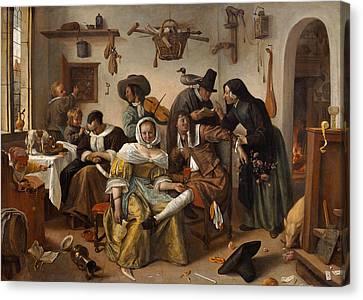 Beware Of Luxury Canvas Print by Jan Steen