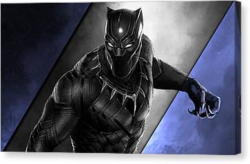 Panther Canvas Print - Black Panther Collection by Marvin Blaine