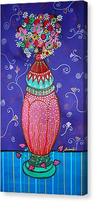 Canvas Print featuring the painting Blooms by Pristine Cartera Turkus