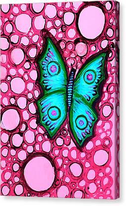 Blue Butterfly Canvas Print by Brenda Higginson