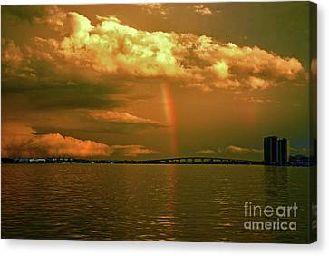Canvas Print featuring the photograph 3- Blue Heron Bridge by Rainbows