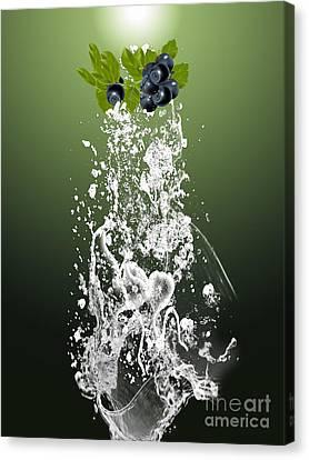 Blueberry Canvas Print - Blueberry Splash by Marvin Blaine