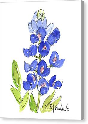 Bluebonnet Canvas Print by Kathleen McElwaine