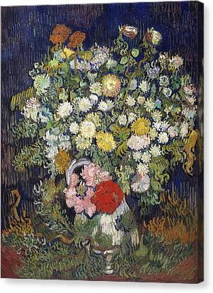 Bouquet Of Flowers In A Vase Canvas Print by Vincent van Gogh