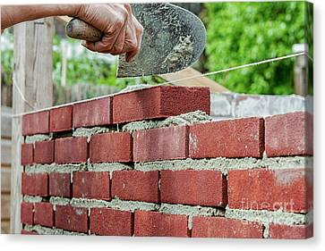 Canvas Print - Bricklaying by Patricia Hofmeester