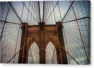 Brooklyn Bridge Canvas Print by Martin Newman