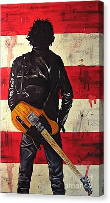Bruce Springsteen Canvas Print by Francesca Agostini