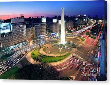 Canvas Print featuring the photograph Buenos Aires Obelisk by Bernardo Galmarini