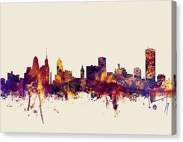 Buffalo New York Skyline Canvas Print by Michael Tompsett