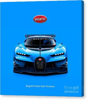 Bugatti Vision Gran Turismo Canvas Print by Mohamed Elkhamisy