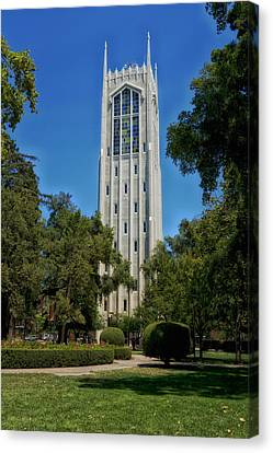 Burns Tower -university Of The Pacific Canvas Print by Mountain Dreams