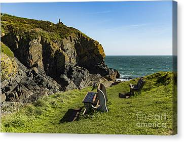 Canvas Print featuring the photograph Cadgwith Cove by Brian Roscorla
