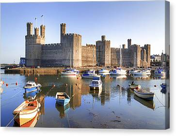 Caernafon Castle - Wales Canvas Print by Joana Kruse