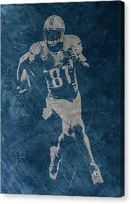 Calvin Johnson Lions Canvas Print by Joe Hamilton