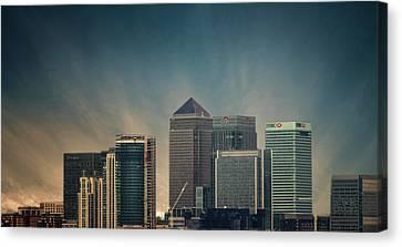 Canary Wharf Canvas Print by Martin Newman