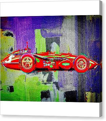 #car #sportscar #racecar #nascar Canvas Print by David Haskett