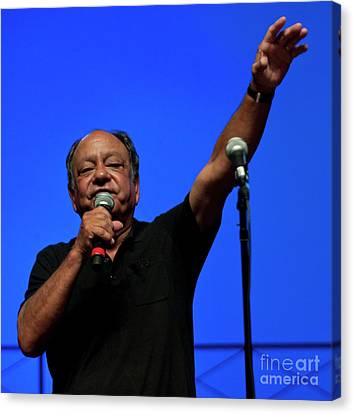 Cheech Marin At Bonnaroo Comedy Theatre Canvas Print by David Oppenheimer
