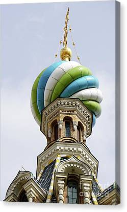 Russian Icon Canvas Print - Church Of The Savior On Spilled Blood  by Vladi Alon
