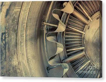 Closeup Of A Jet Engine  Canvas Print by Anna Vaczi