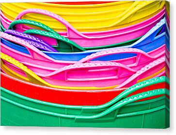 Colorful Plastic Canvas Print by Tom Gowanlock
