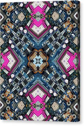 Parts Canvas Print - Computer Circuit Board Kaleidoscopic Design by Amy Cicconi