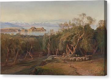 Corfu Canvas Print - Corfu From Ascension by Edward Lear