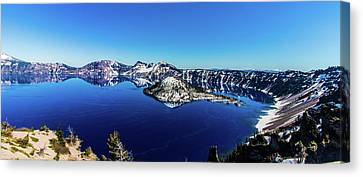 Canvas Print featuring the photograph Crater Lake by Jonny D
