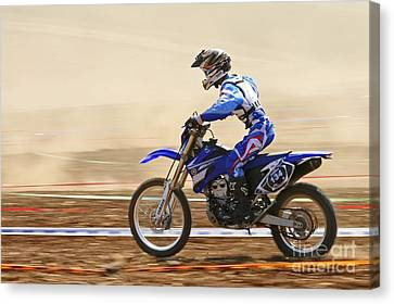 Two Wheeler Canvas Print - Cross Country Motorbike Racing by PhotoStock-Israel